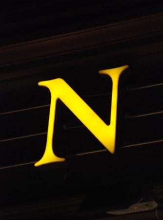 n: yellow neot letter n