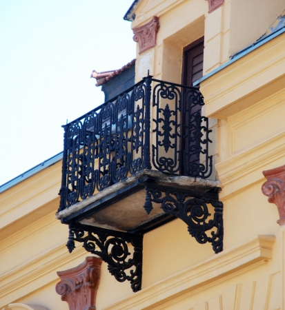 balcony in bitola, macedonia photo