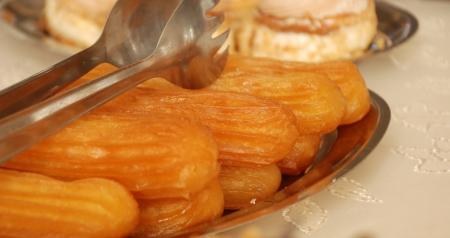turkish dessert: tulumba, turkish dessert Stock Photo