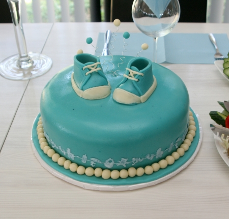 Blue baby cake Stock Photo