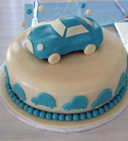 Blue baby cake Reklamní fotografie