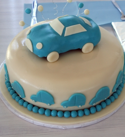 Blue baby cake Banque d'images