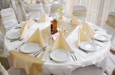 wedding table decoration,round Reklamní fotografie