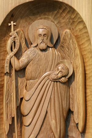 john: wooden icon of st  john the baptist