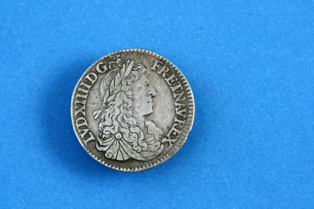 louis XIV coin 1664 Stock Photo - 15033426
