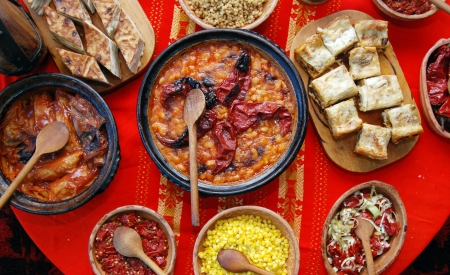 leckere macedonian Lebensmitteln Lizenzfreie Bilder