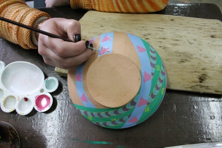 ceramic: painting on pottery