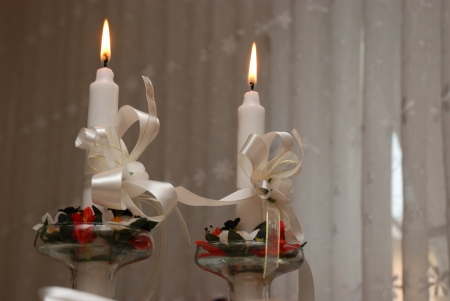 marriage,wedding candles photo