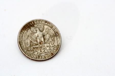 25 cents: old quarter dollar