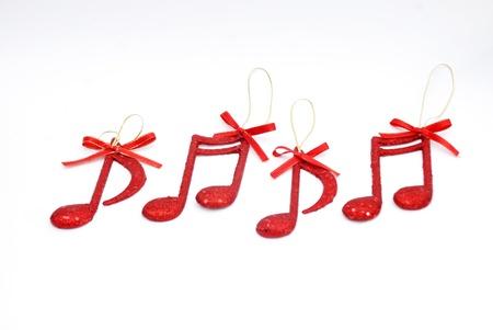 nota musical: nuevas notas musicales a�os, antecedentes Christmass Foto de archivo