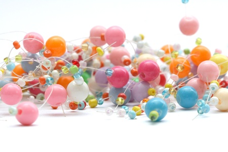 Close up on colorful beads Banco de Imagens