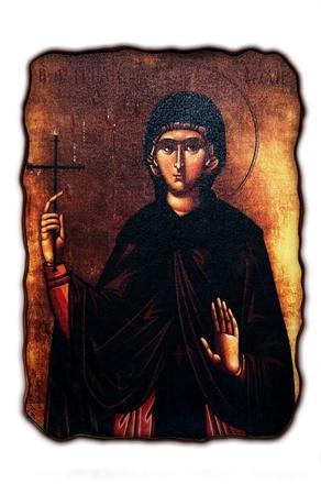 saintliness: orthodox icon ,madona Editorial