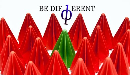 be different: be different,green concept Stock Photo
