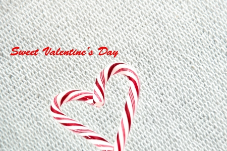 heart from lollipop canes,sweet valentine day photo