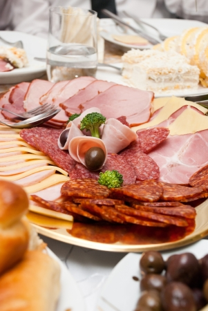 Assortment of cold meat and salami Stock Photo - 17393453