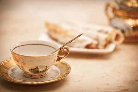 british foods: tea set Stock Photo