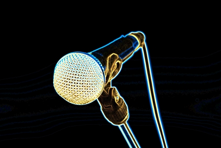 microphone on black photo