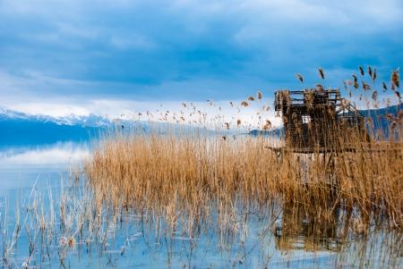 Fisherman s Haus am See Lizenzfreie Bilder