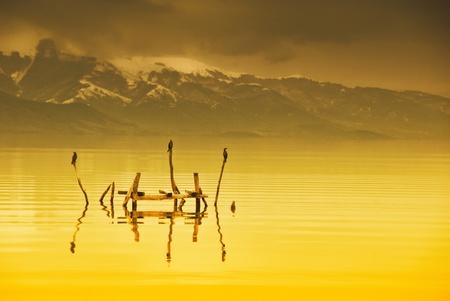 lake prespa, macedonia photo