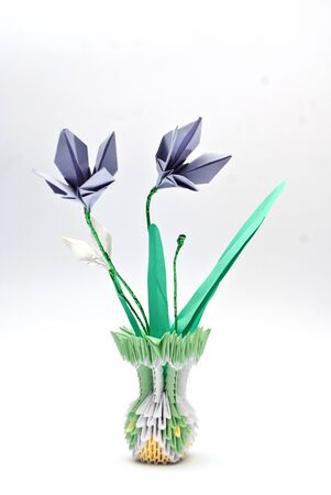 flower in a vase origami art photo