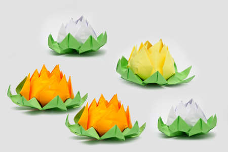 origami lotus Stock Photo - 18194571