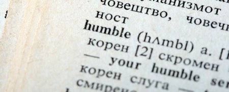 terminology: humble Stock Photo