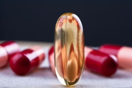 omega 3 Capsule Stock Photo