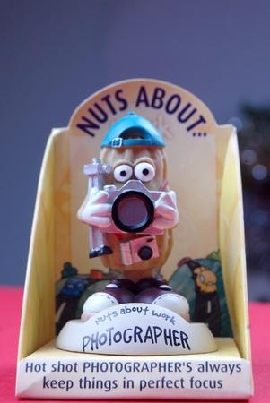 mensch: funny photographer, toy, souvenir,