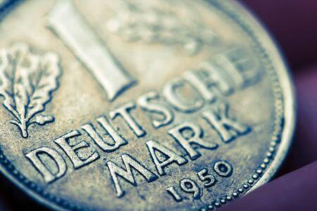 german mark: one german mark Stock Photo
