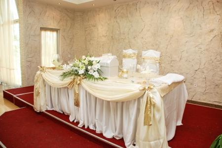 wedding table Standard-Bild