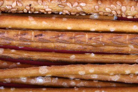 grissini: grissini sticks with sesame
