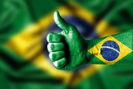 brasil: thumbs up