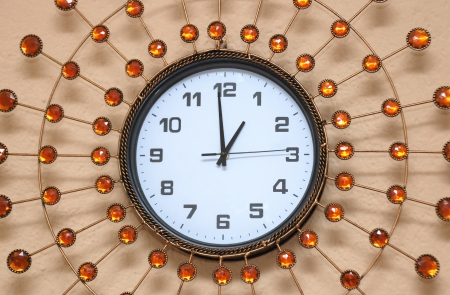 pearl wall clock Stock Photo