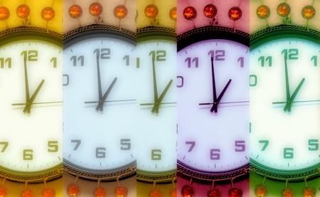 wall clock: pearl wall clock Stock Photo