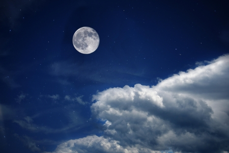 Scenic view of moon in starry sky  Stock Photo - 20240586