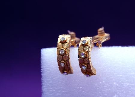 vanity bag: Jewellery on deep purple Stock Photo