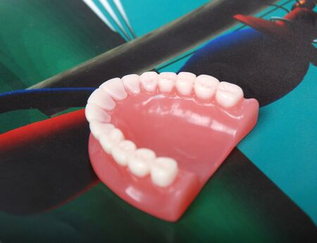 maxillary: denture Stock Photo