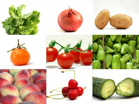 Fruits and Vegetables,Collage photo