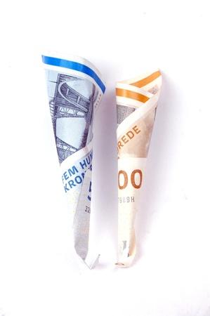 Danish krone banknotes photo