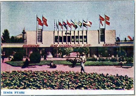 turkiye: vintage post card from izmir fair, turkiye