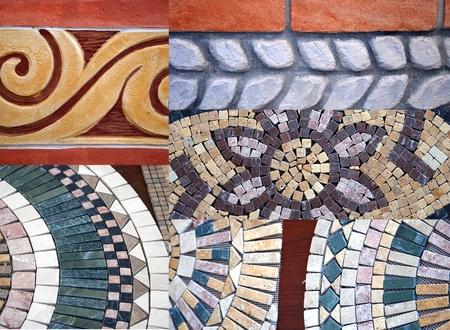 Collage of floor tiles photo