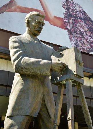 cinematographer: Statue of Milton Manaki , first cinematographer on the Balkans