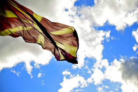 macedonia: Flag of Macedonia Stock Photo