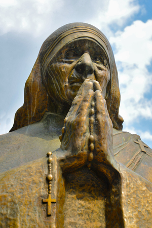 calcutta: Statue  of Mother Teresa in Skopje Stock Photo