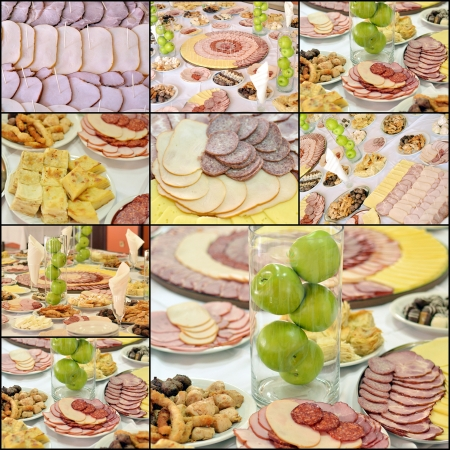 Collage of cold cuts photo