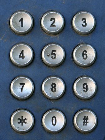 roaming: Public Telephone keypad ,macro Stock Photo