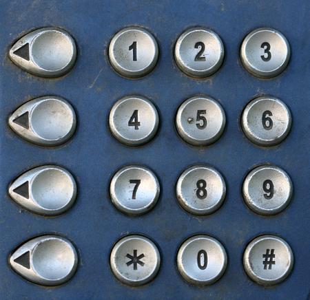 ringtones: Public Telephone keypad ,macro Stock Photo
