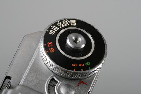 50mm: shutter of camera