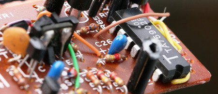 semiconductor: components of electronic circuits Stock Photo