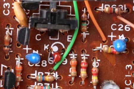 electronic components: components of electronic circuits Stock Photo